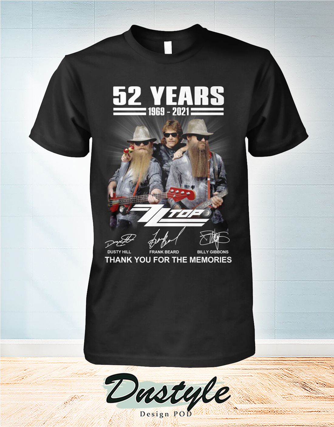 ZZ Top 52 years thank you for the memories shirt