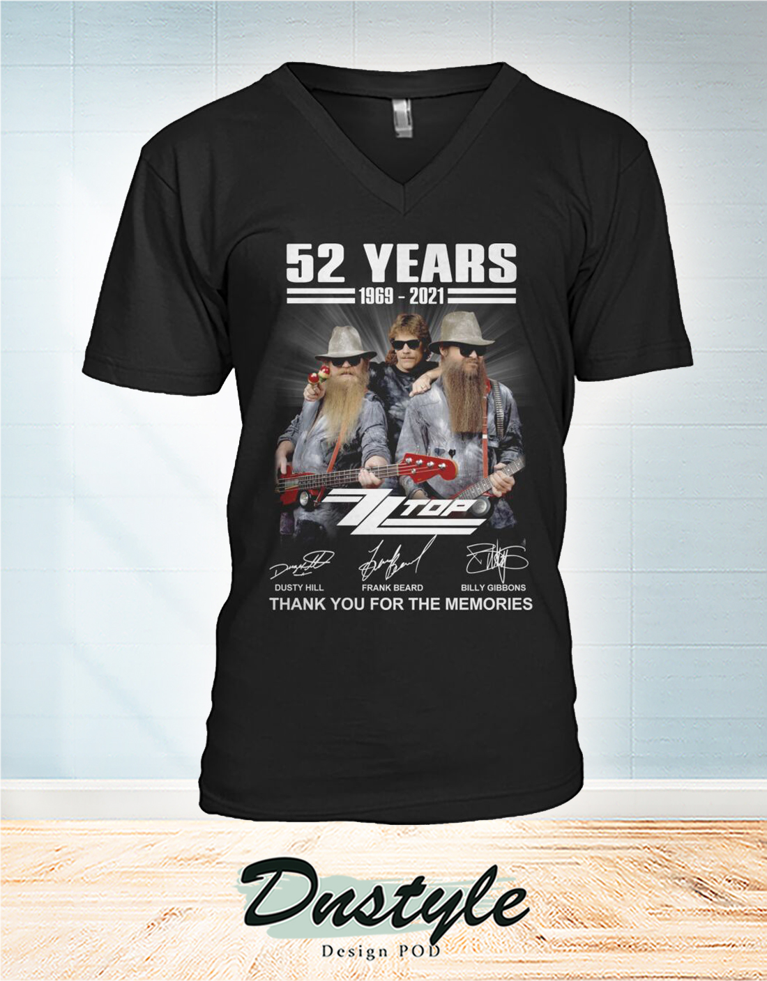 ZZ Top 52 years thank you for the memories v-neck