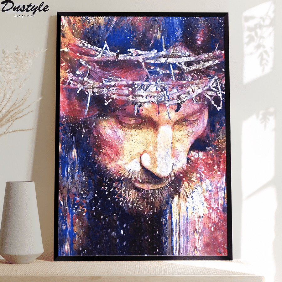 jesus christ watercolor painting poster and canvas 1
