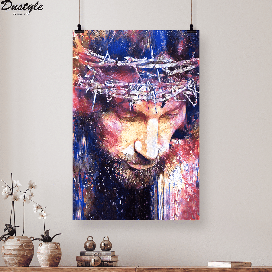 jesus christ watercolor painting poster and canvas 2