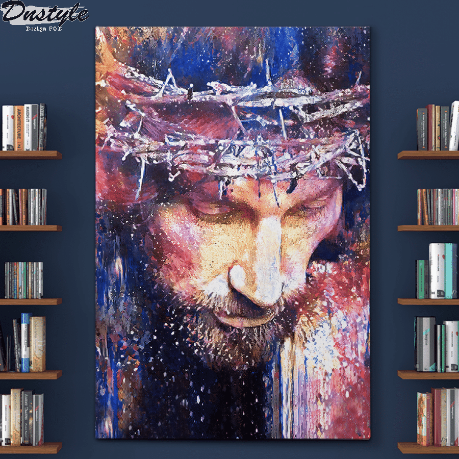 jesus christ watercolor painting poster and canvas