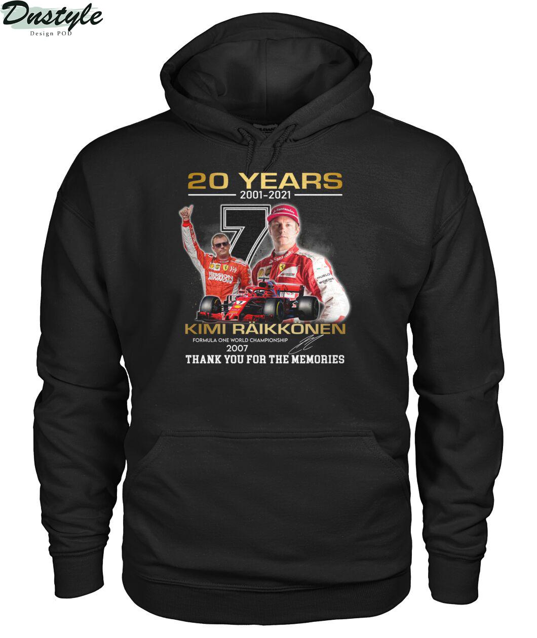 20 years 2001 2021 Kimi Räikkönen f1 world championship 2007 hoodie