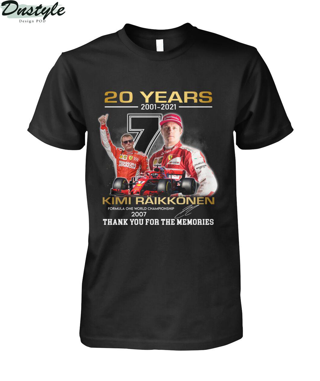 20 years 2001 2021 Kimi Räikkönen f1 world championship 2007 shirt