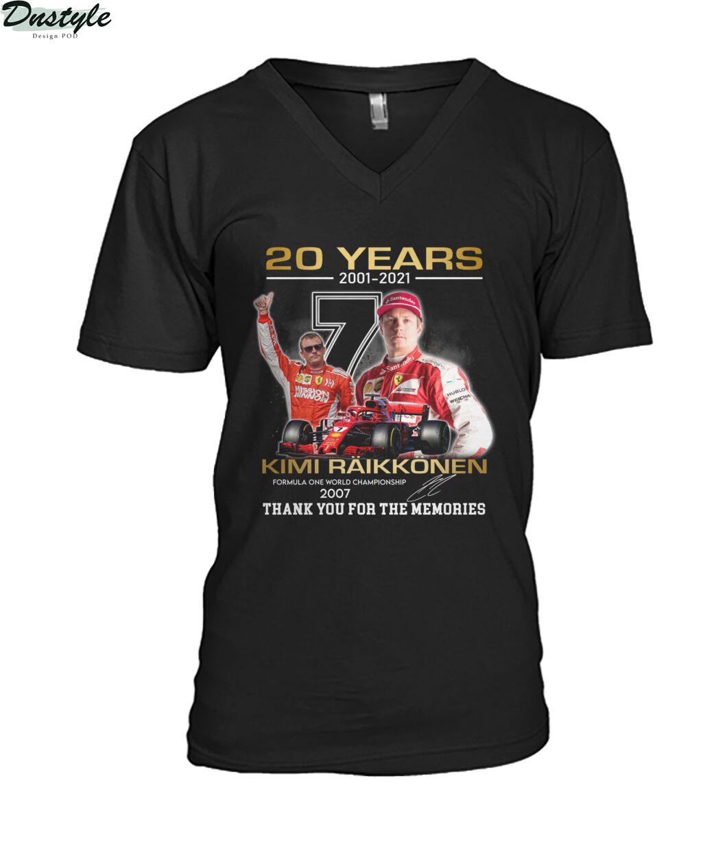 20 years 2001 2021 Kimi Räikkönen f1 world championship 2007 v-neck