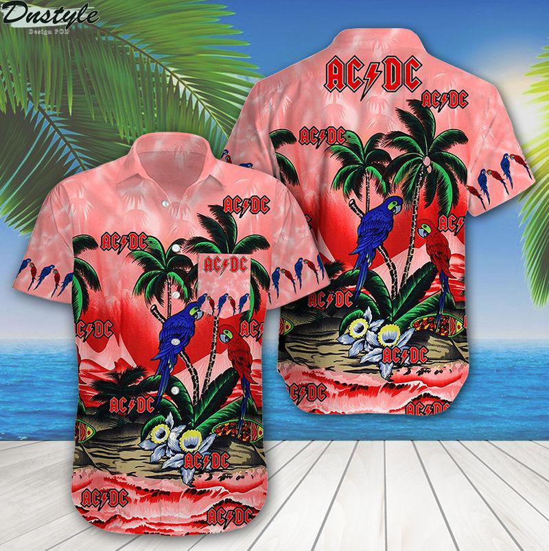 ACDC tropical parrot summer beach hawaiian shirt