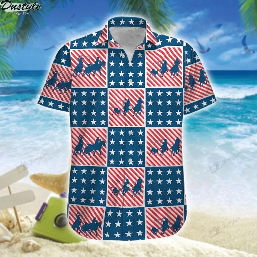 America team roping hawaiian shirt