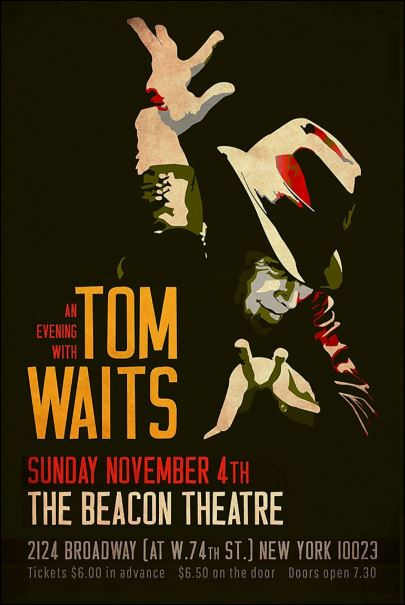 An evening with Tom Waits poster