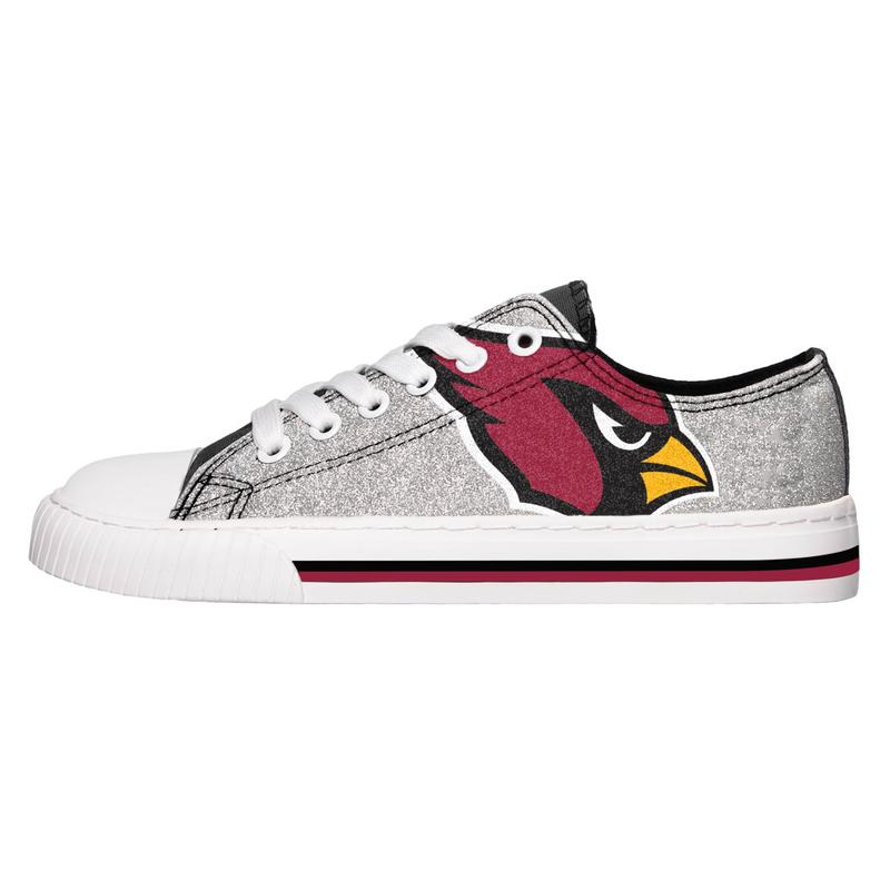 Arizona cardinals NFL glitter low top canvas shoes 1