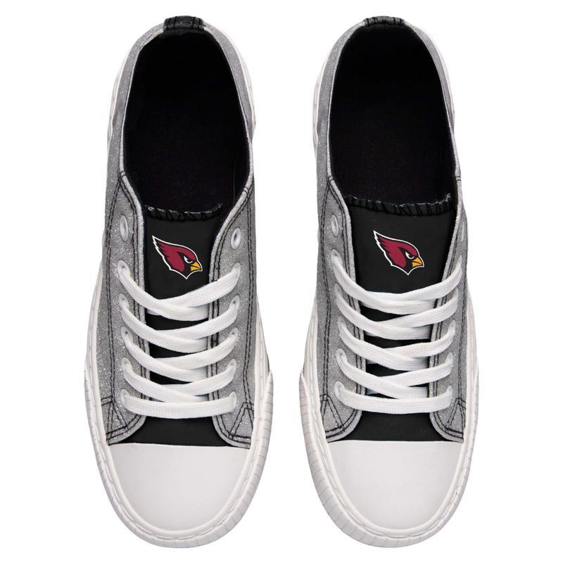 Arizona cardinals NFL glitter low top canvas shoes 2