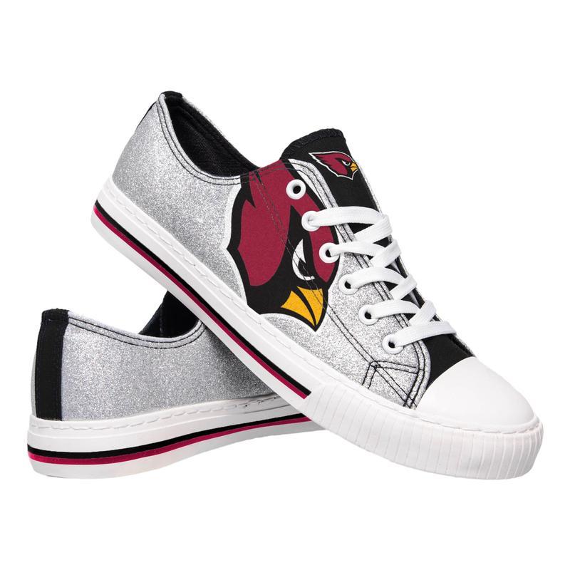 Arizona cardinals NFL glitter low top canvas shoes