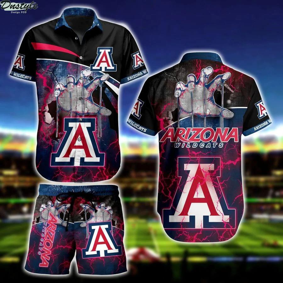 Arizona wildcats NCAA hawaiian shirt and short