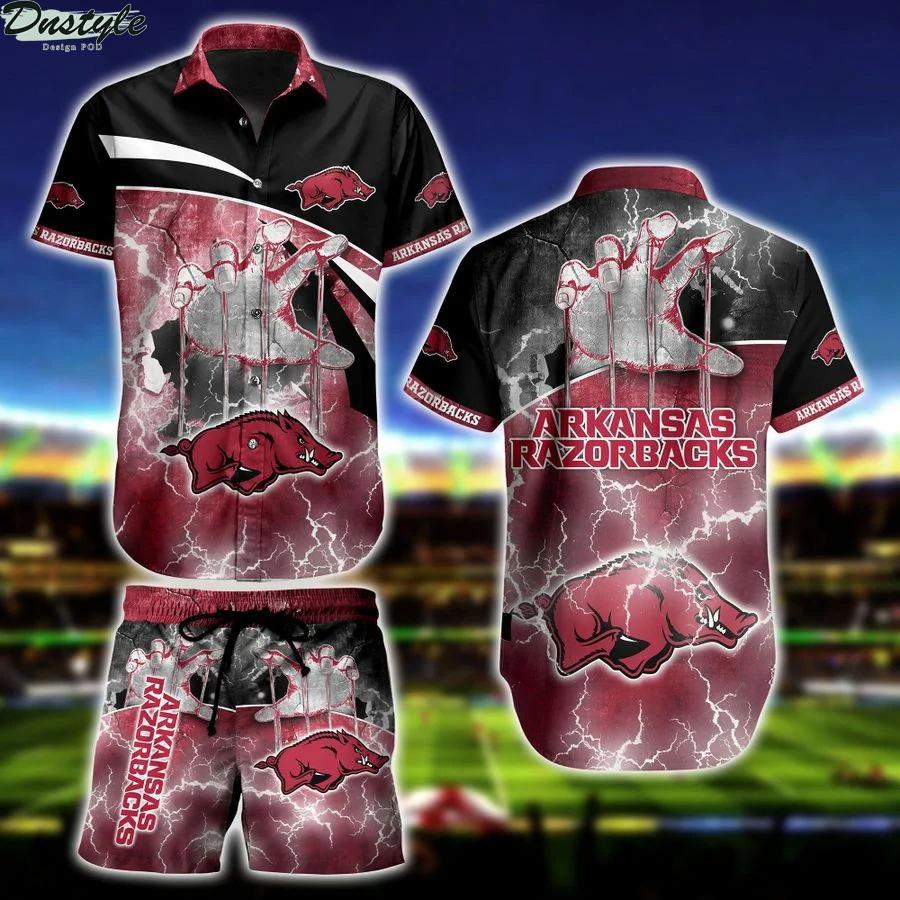 Arkansas Razorbacks NCAA hawaiian shirt and short