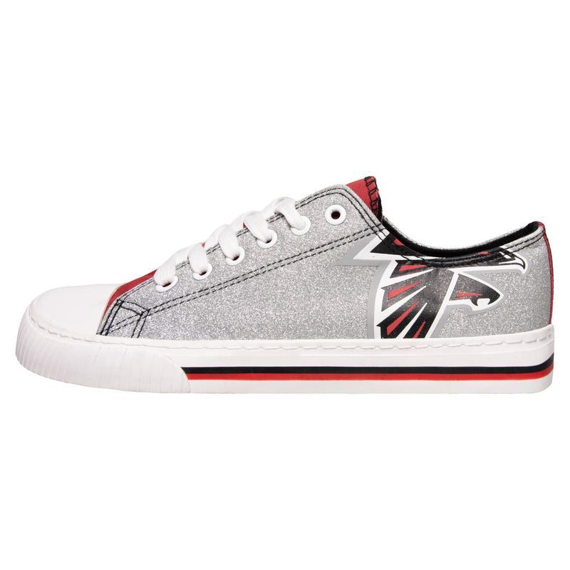 Atlanta falcons NFL glitter low top canvas shoes 1