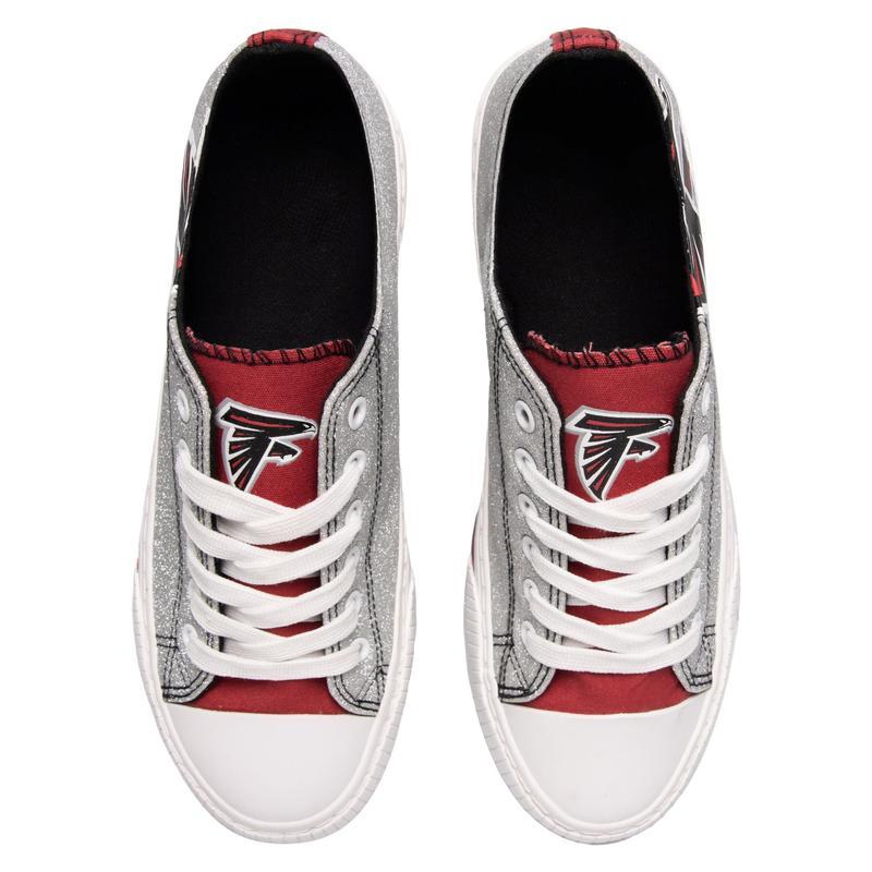 Atlanta falcons NFL glitter low top canvas shoes 2