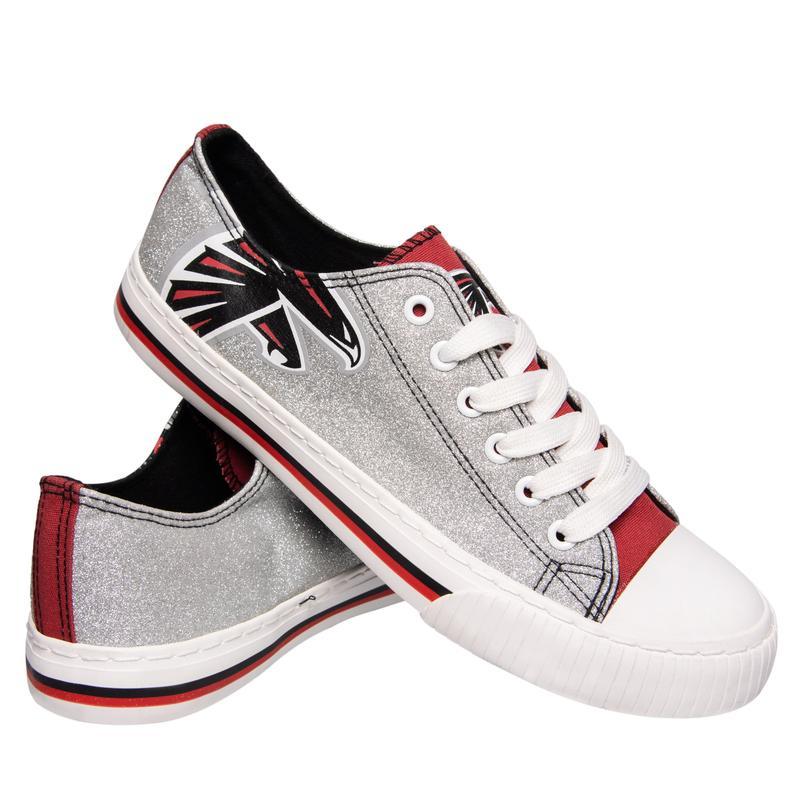 Atlanta falcons NFL glitter low top canvas shoes