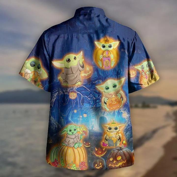 Baby yoda halloween hawaiian shirt 1