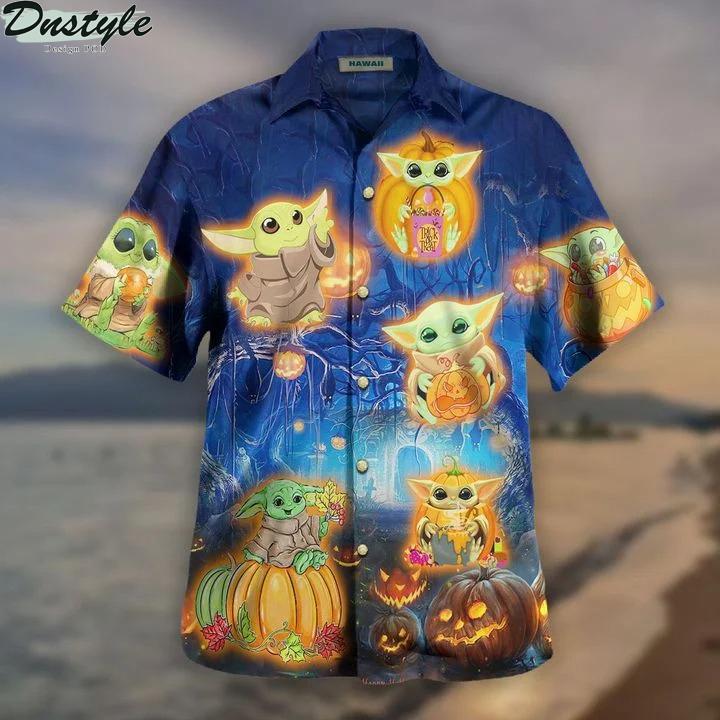 Baby yoda halloween hawaiian shirt