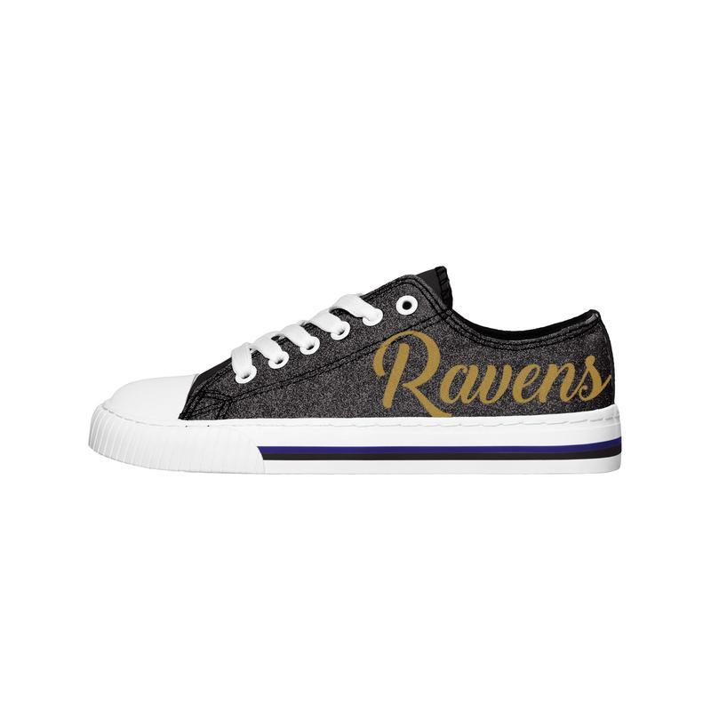 Baltimore ravens NFL low top canvas shoes 1