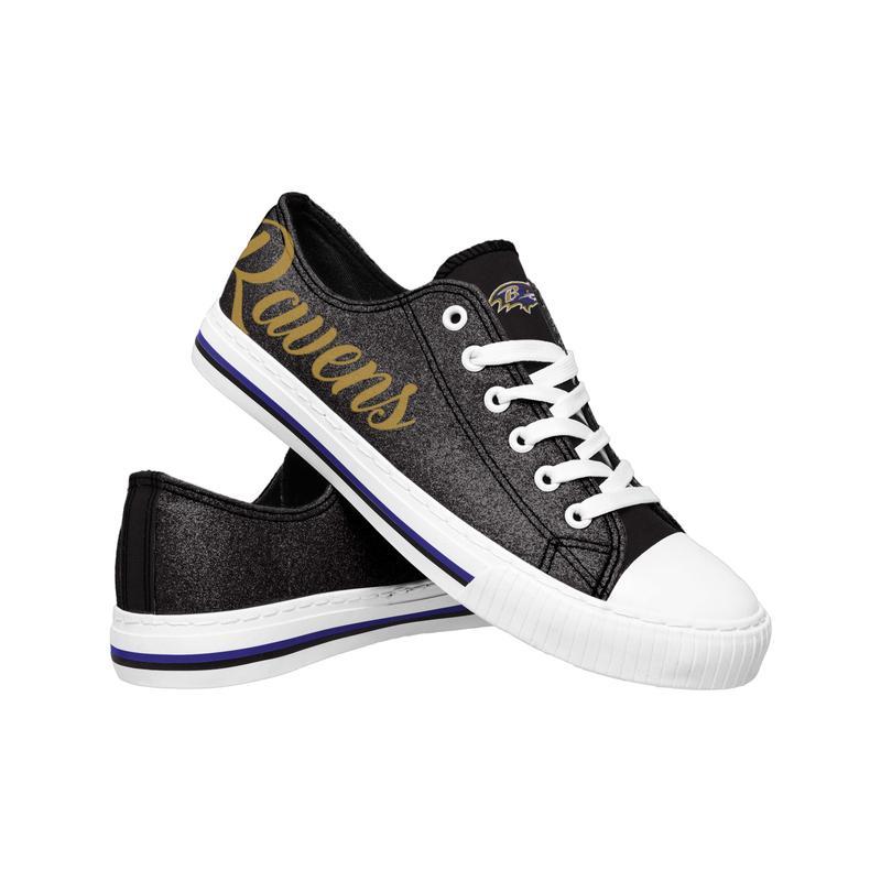Baltimore ravens NFL low top canvas shoes