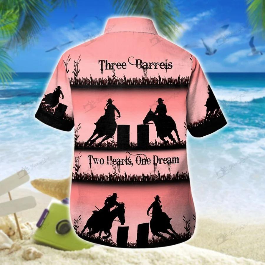 Barrel racing pink hawaiian shirt 1