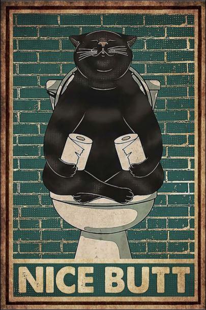 Black cat nice butt poster