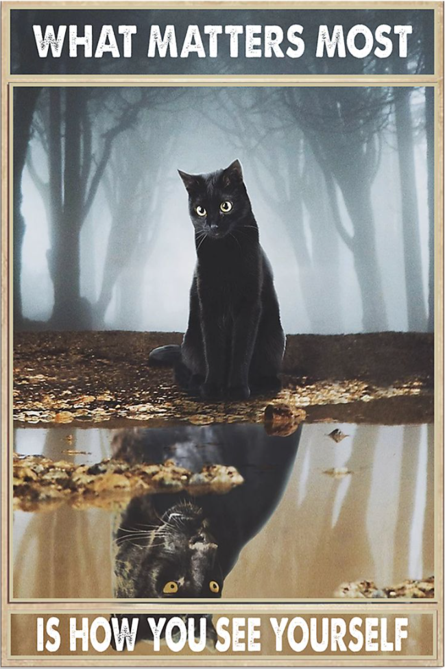 Black cat what matter most is how you see yourself poster