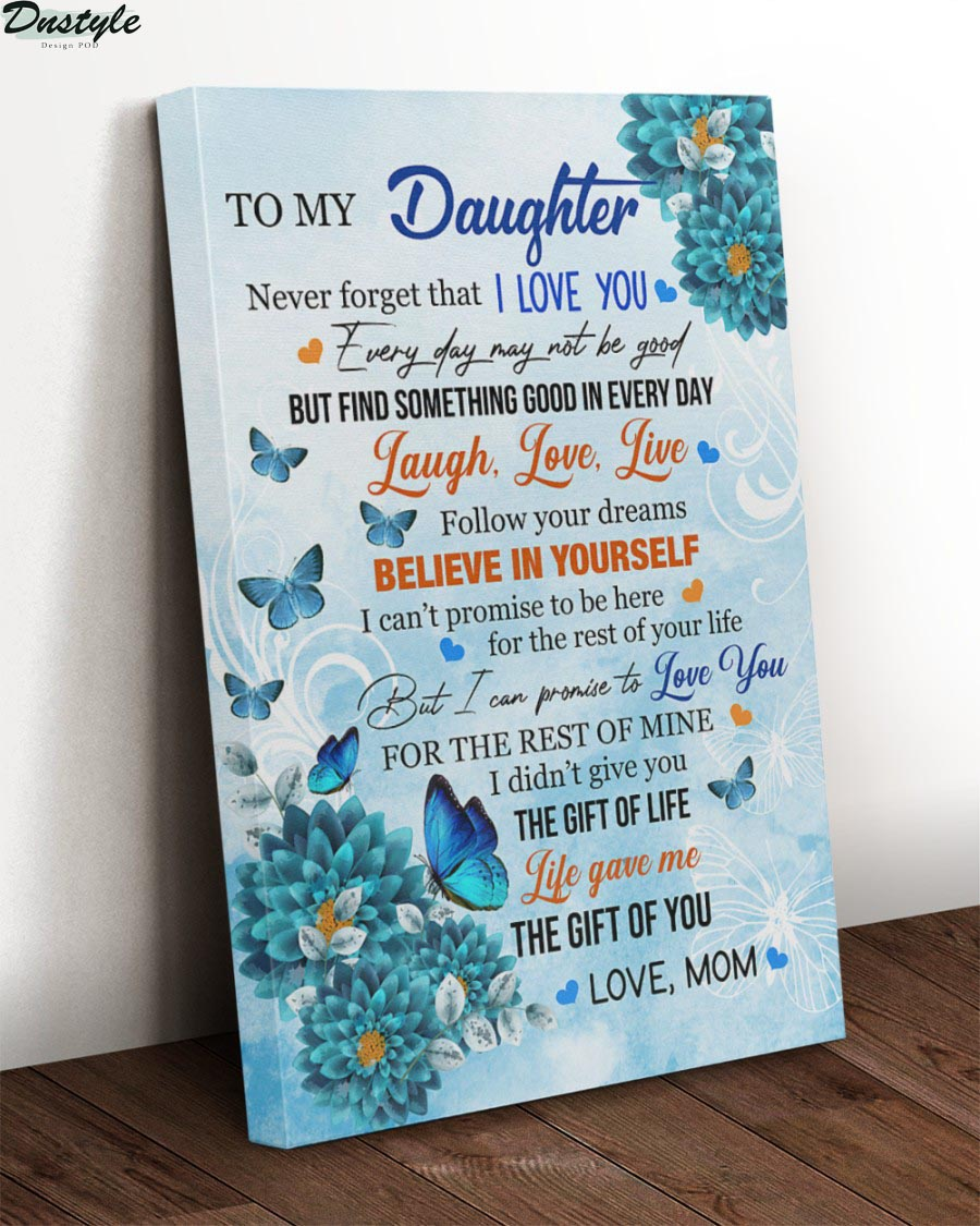 Blue carnations and monarch butterfly to my daughter canvas 1