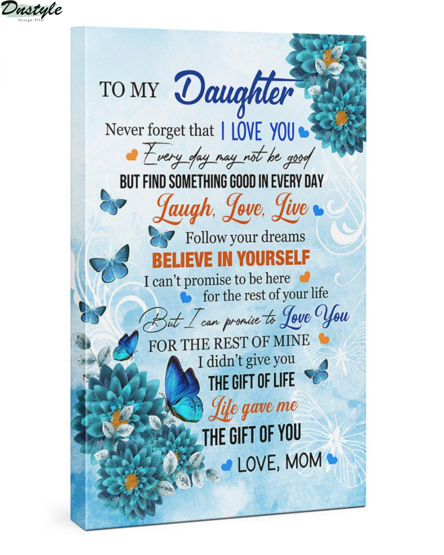 Blue carnations and monarch butterfly to my daughter canvas 2