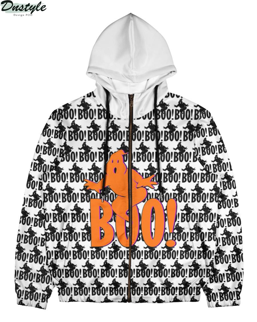 Boo ghost 3d all over printed zip hoodie
