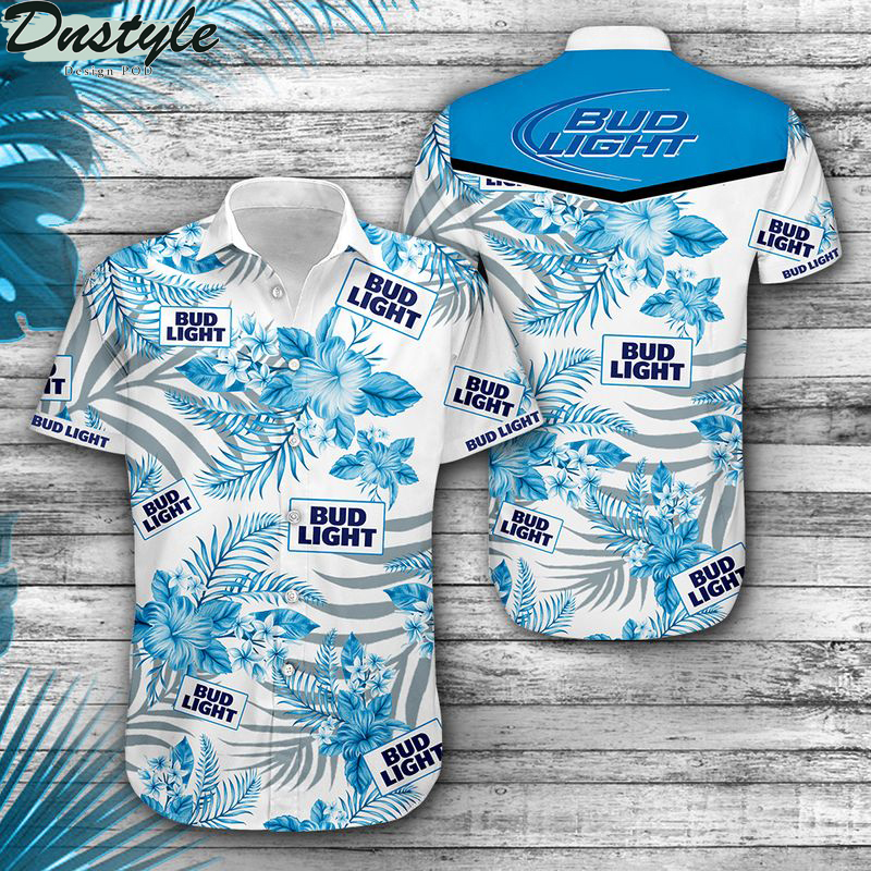 Bud light hibiscus hawaiian shirt