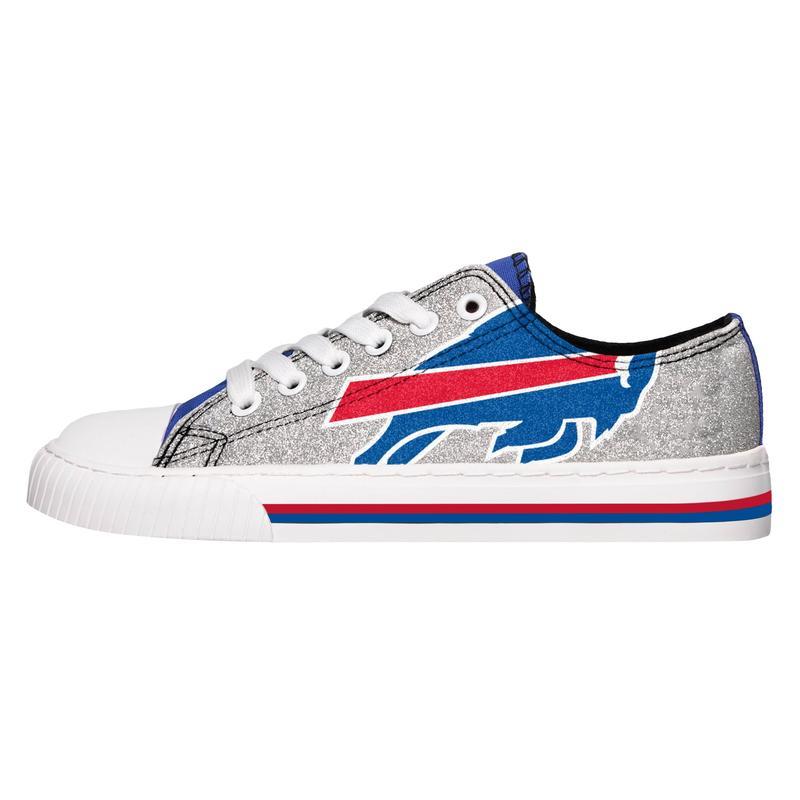 Buffalo bills NFL glitter low top canvas shoes 2