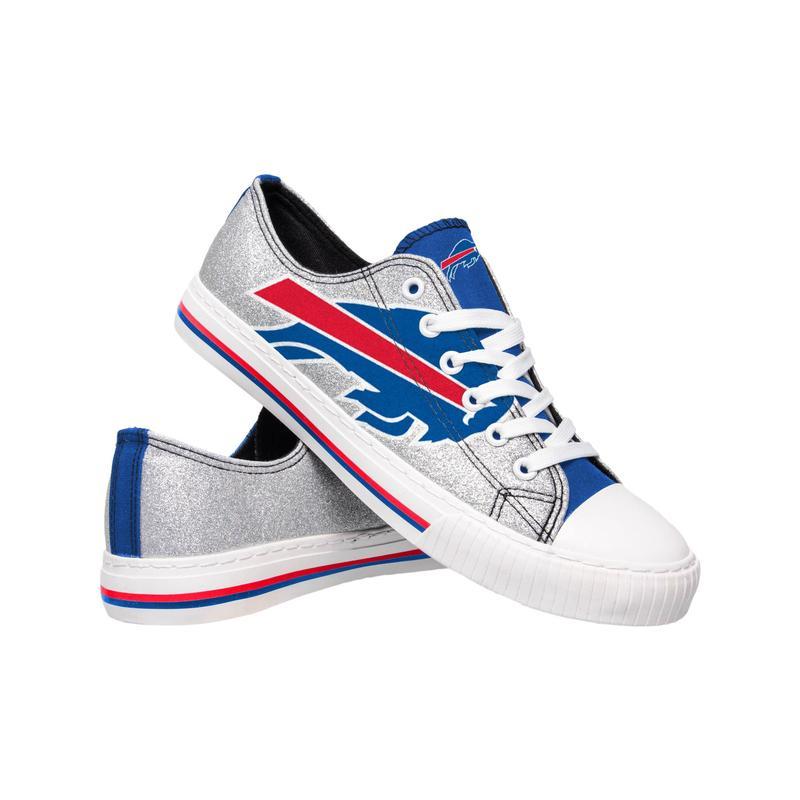 Buffalo bills NFL glitter low top canvas shoes