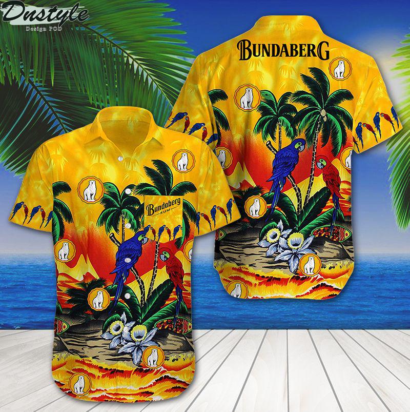 Bundaberg tropical parrot summer beach hawaiian shirt