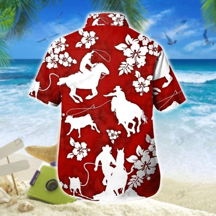 Calf roping hawaiian shirt 1