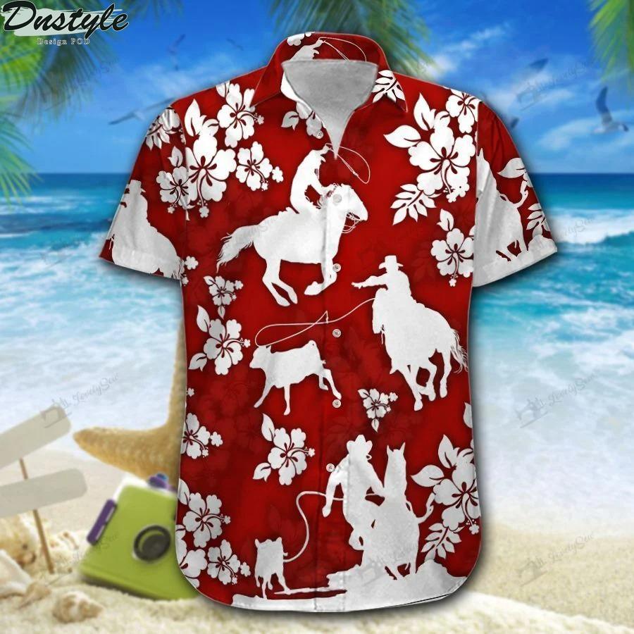 Calf roping hawaiian shirt