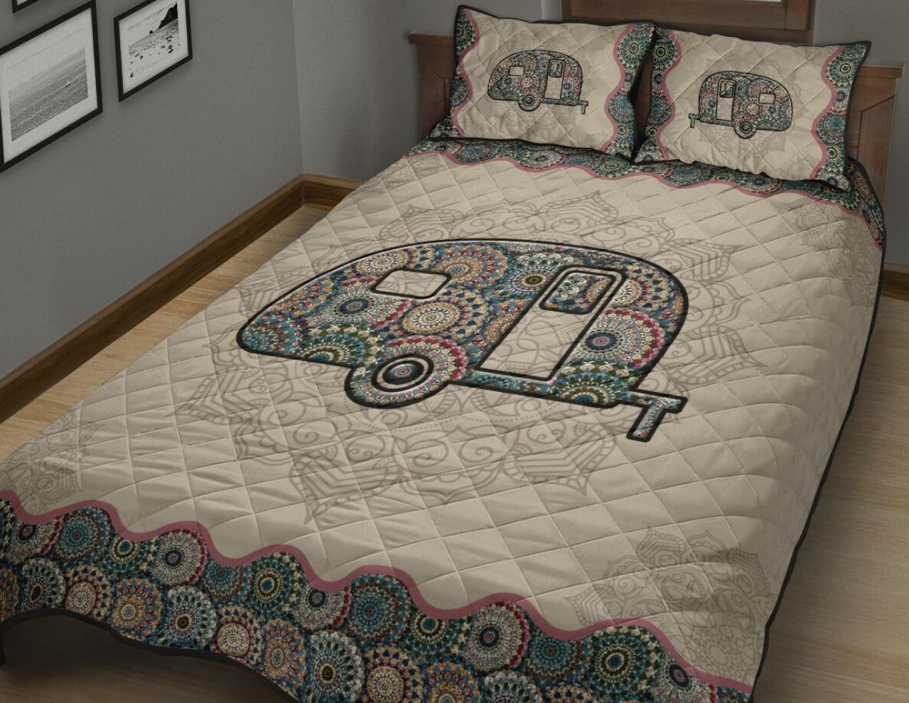 Camper mandala bedding set
