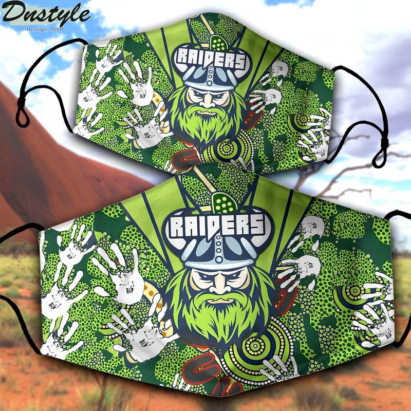 Canberra Raiders NRL 3d face mask