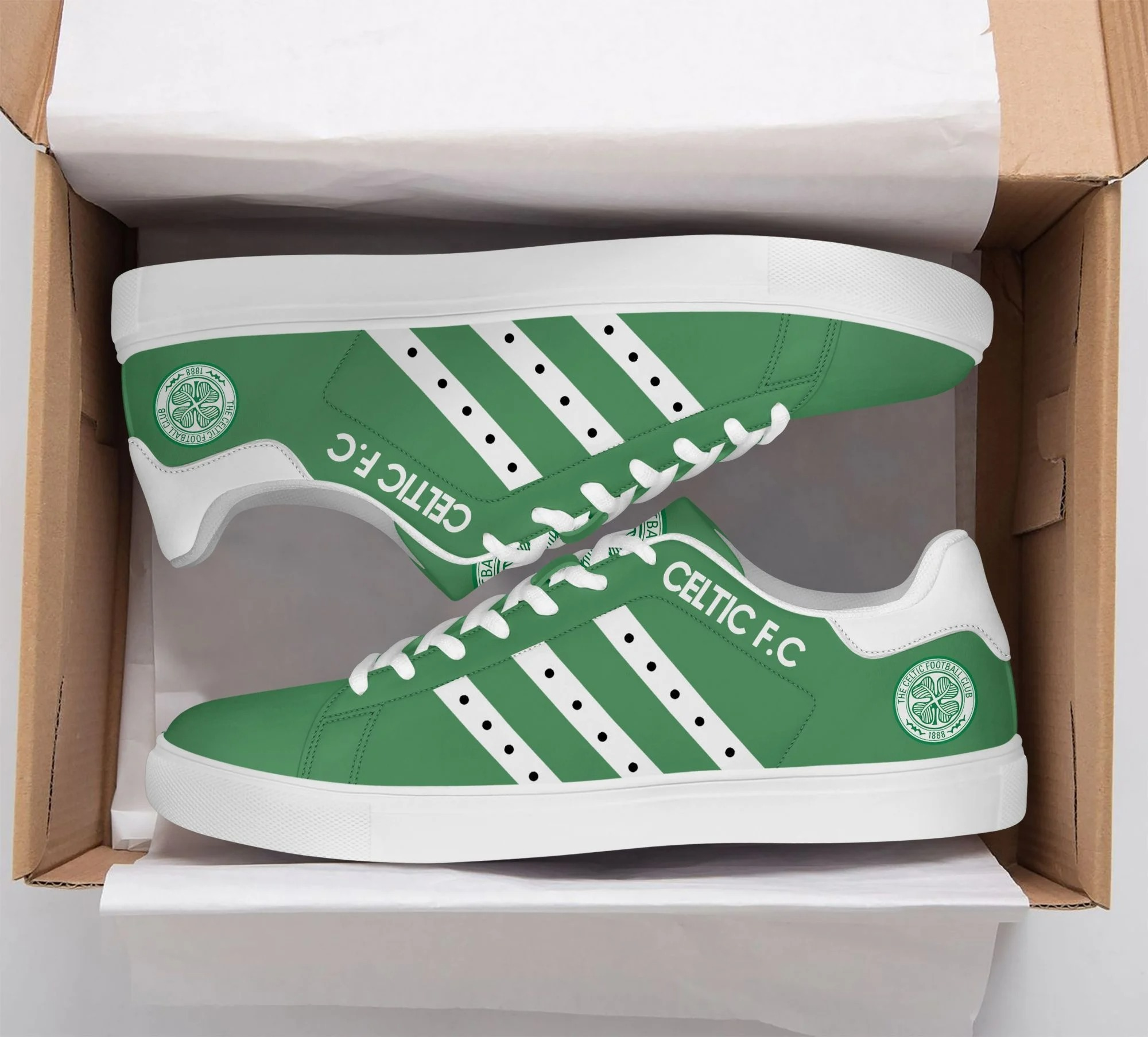 Celtic FC stan smith low top shoes 1