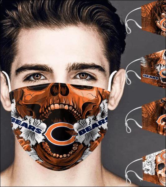 Chicago Bears skull face mask