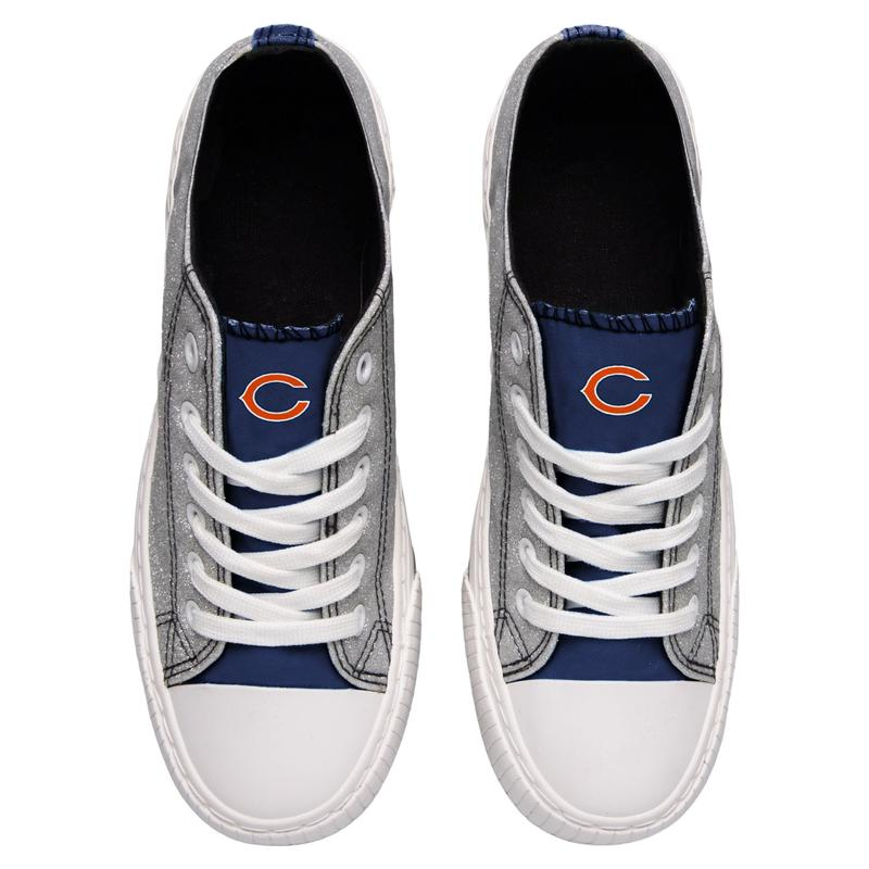 Chicago bears NFL glitter canvas shoes 2