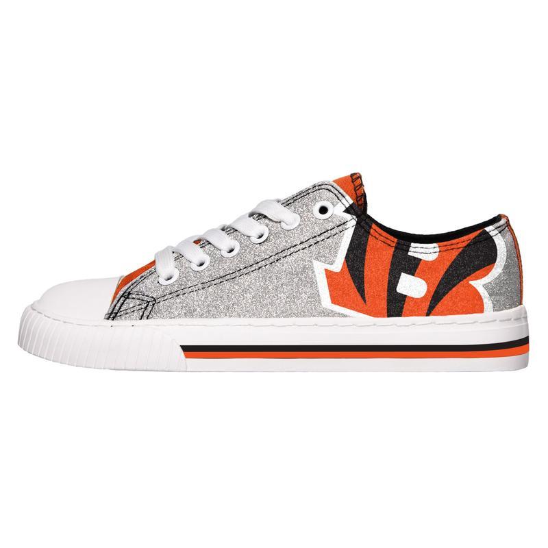 Cincinnati bengals NFL glitter low top canvas shoes 1