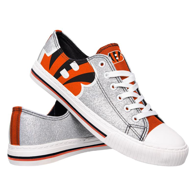 Cincinnati bengals NFL glitter low top canvas shoes