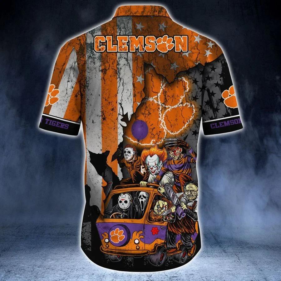 Clemson Tigers NCAA horror movies hawaiian shirt 1