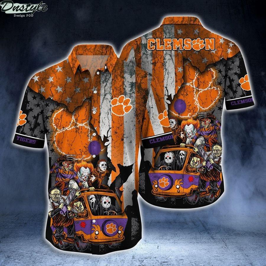 Clemson Tigers NCAA horror movies hawaiian shirt