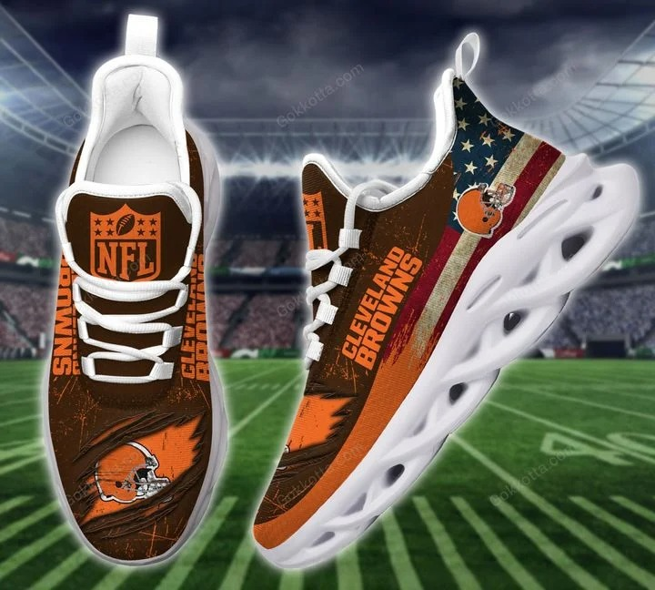 Cleveland browns NFL max soul shoes 2
