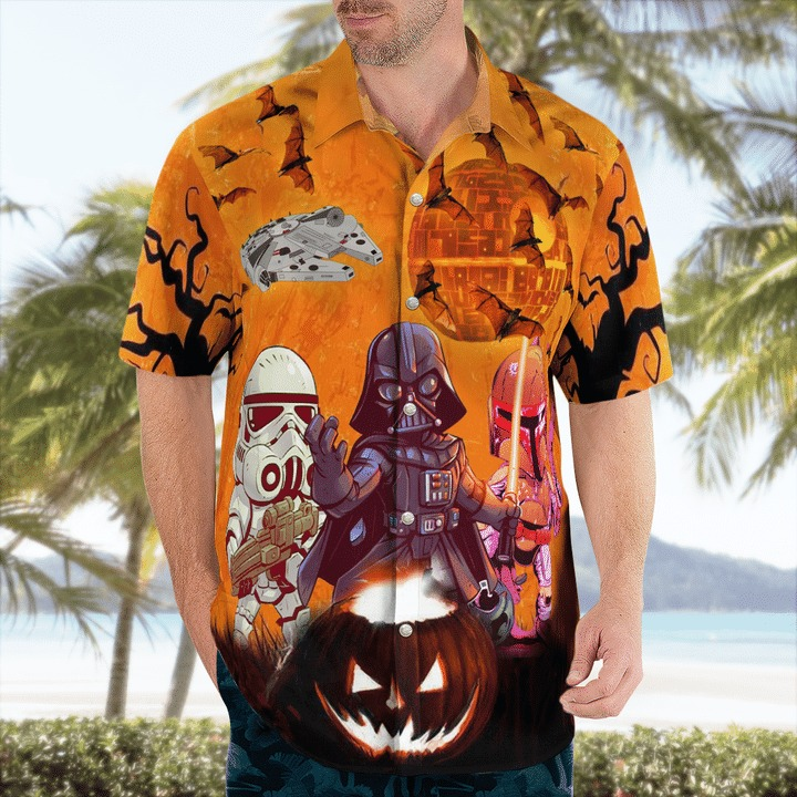 Come to the dark side we have trick or treat hawaiian shirt 2