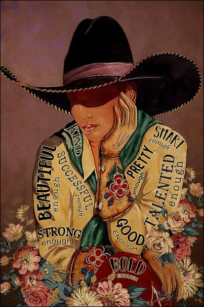 Cowgirl i am vertical poster