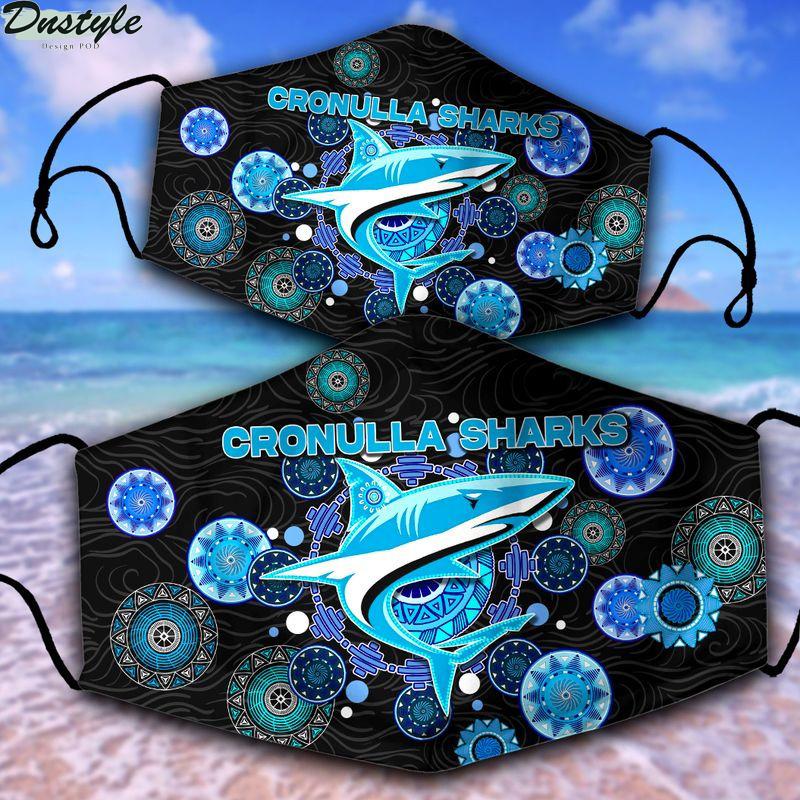 Cronulla-Sutherland Sharks NRL 3d face mask