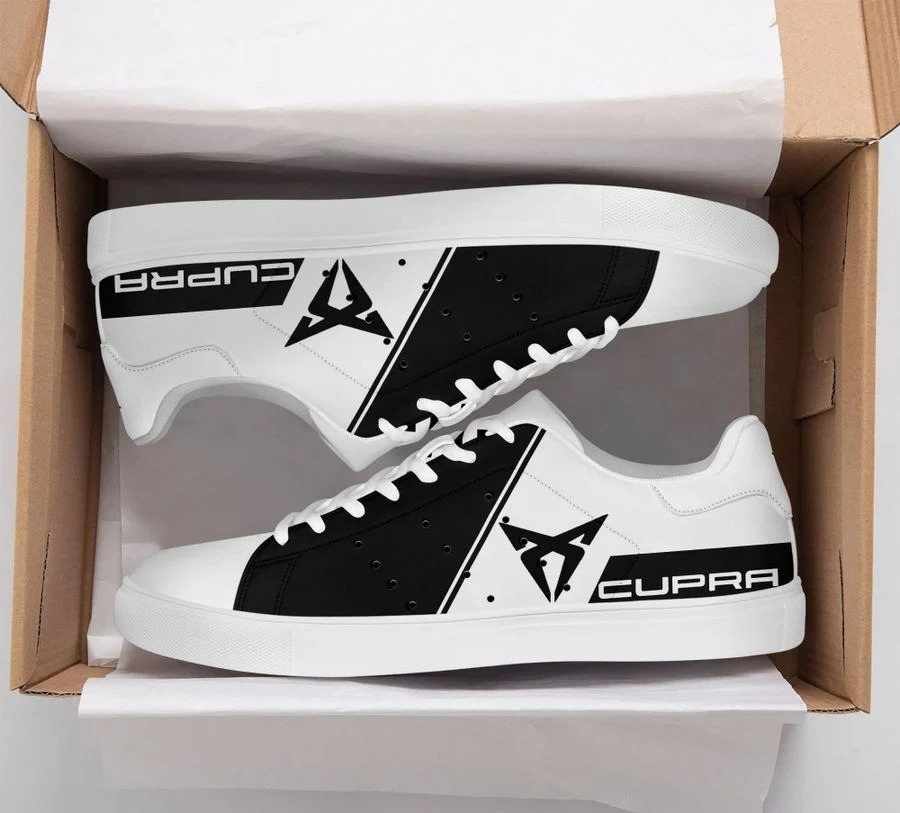 Cupra black and white stan smith low top shoes 1