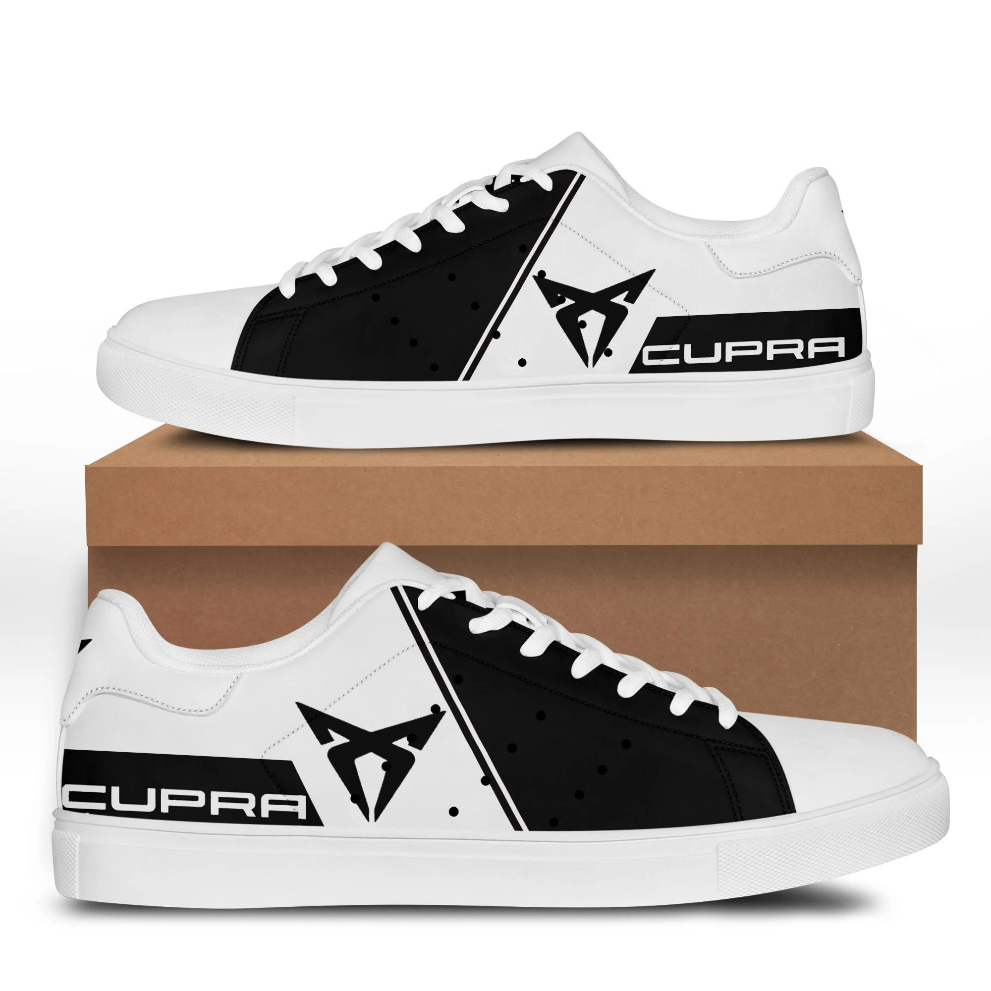 Cupra black and white stan smith low top shoes 2